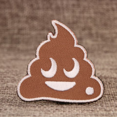 Cartoon Looking Excrement Velcro Patches
