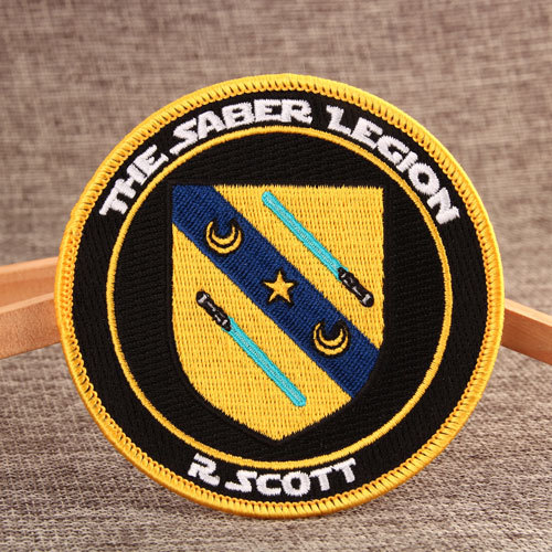 Saber Custom Embroidered Patches No Minimum