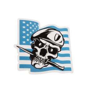 Skull With Beret Custom Stickers