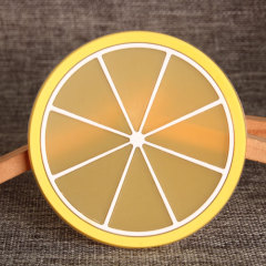 Lemon Slice PVC Coaster