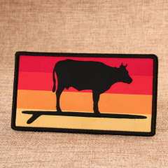 Standing Bull Personalized Patches