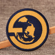 Earth Embroidered Patches