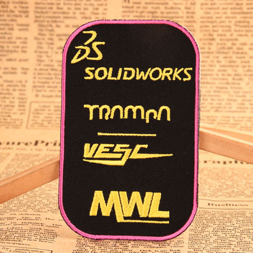 SolidWorks Embroidered Patches