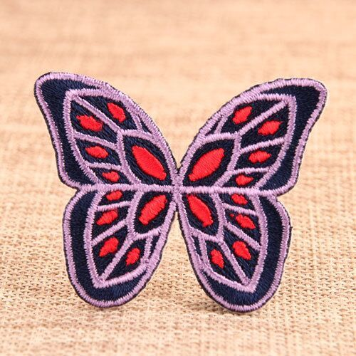 Butterfly Iron On Embroidered Patches