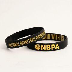 NBPA Rubber Wristbands Custom Cheap