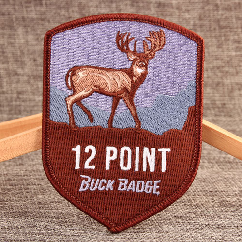 Twelve Point Buck Buy Custom Patches