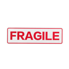 Rectangle Fragile Custom Stickers