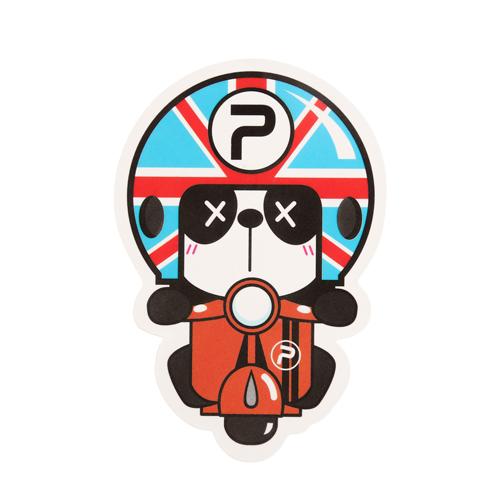 Panda Riding Custom Stickers
