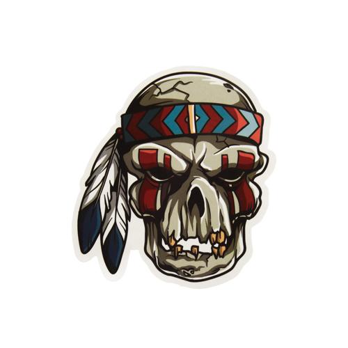 Native American Skull Custom Stickers