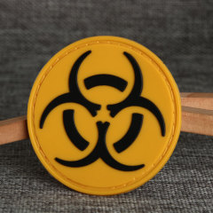 Biohazard Sign PVC Patches
