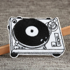 Black & Whie Phonograph Custom Patches