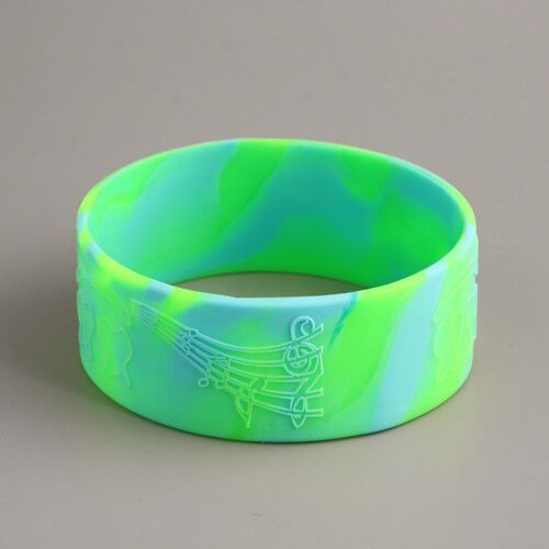 Swirled Rubber Wristbands Custom Cheap