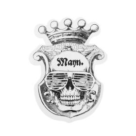 Mann Skull Custom Stickers