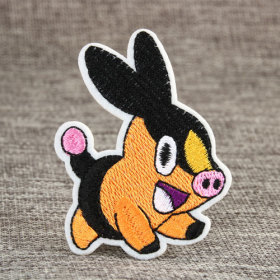 Pokemon Warm Pig Custom Embroidered Patches
