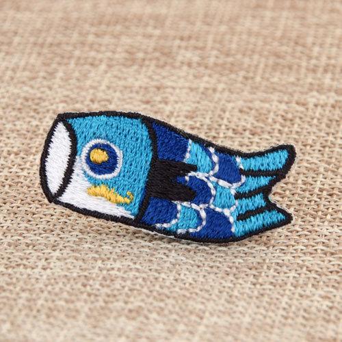 Blue Fish Custom Patches No Minimum