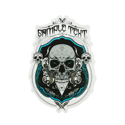 Evil Skull Custom Stickers