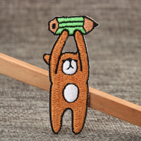 Pencil Bear Small Order Custom Patches