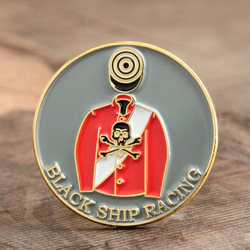 Black Ship Racing Lapel Pins