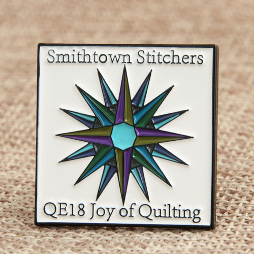 Custom Smithtown Stitchers Pins