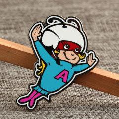 Flying Girl Enamel Pins