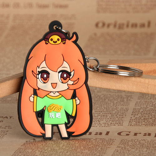 Play Girl PVC Keychain