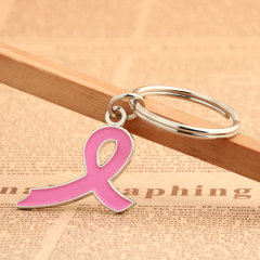 Pink Ribbon Custom Keychains