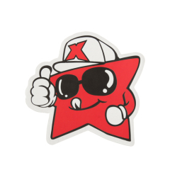 Red Star Custom Stickers