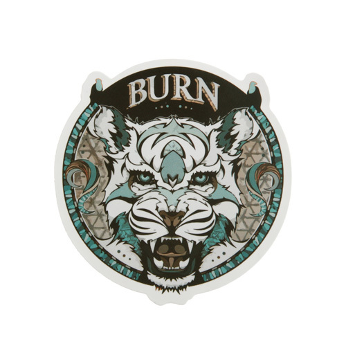 Tiger Burn Custom Stickers