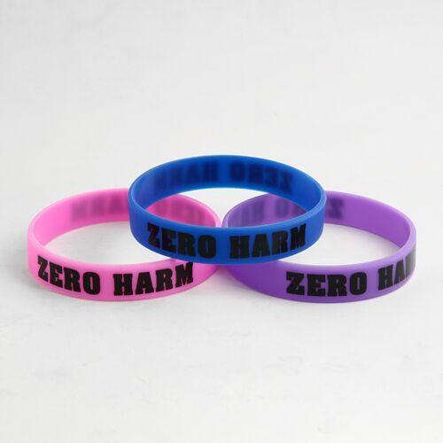 ZERO HARM Printed wristbands Cheap