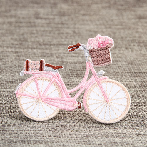 Pink Bike Custom Embroidered Patches