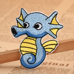 Sea Horse Cheap Custom Embroidered Patches