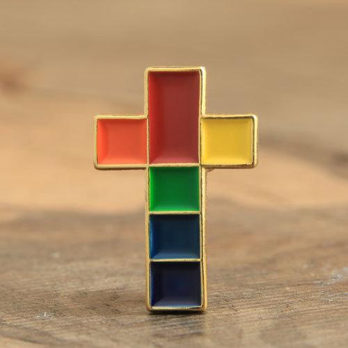 Colorful Cross Custom Lapel Pins