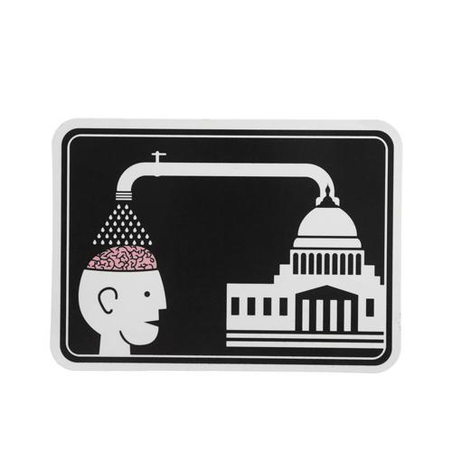 Alien Brainwash Custom Stickers