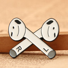 Bluetooth Headset Enamel Pins
