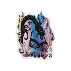 Fire Woman Custom Stickers