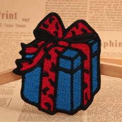 Gift Box Embroidered Patches