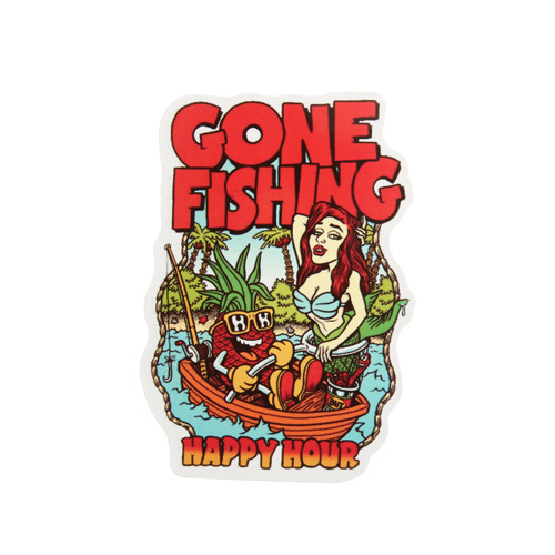 Gone Fishing Custom Stickers