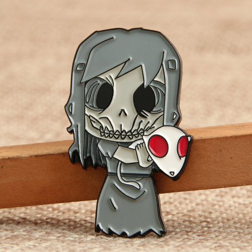 Skeleton Girl Custom Lapel Pins