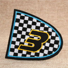 The Number 3 Custom Embroidered Patches