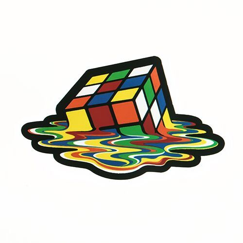 Rubik's Cube Die Cut Stickers
