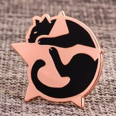 Cat And Star Enamel Pins