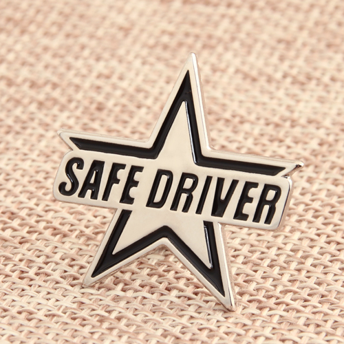 Safe Driver Cheap Enamel Pins