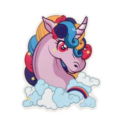 Purple Unicorn Custom Stickers