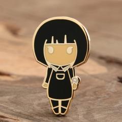 Short Hair Girl Enamel Pins