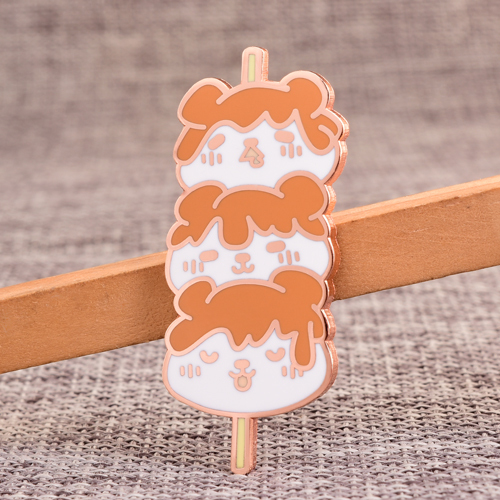Cartoon Stick Food Enamel Pins