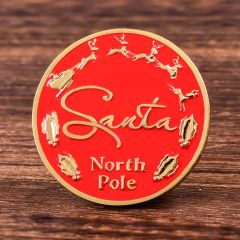 Santa Claus Custom Made Coins