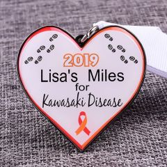 Kawasaki Disease Custom Running Medals