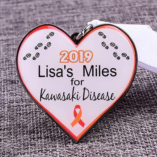 Kawasaki Disease Custom Running Medals