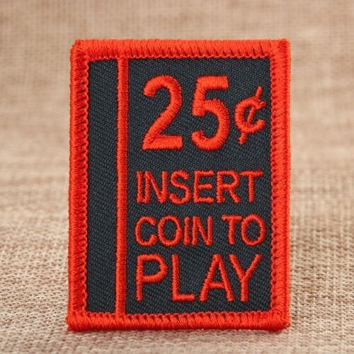 25 Insert Coin To Play Biker Vest Patches