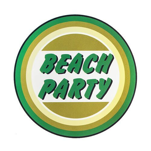 Beach Party Circle Stickers